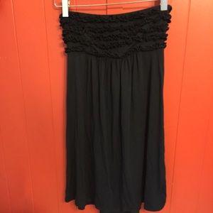 Victoria Secret Black Strapless Dress